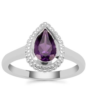 Zambian Amethyst Ring in Sterling Silver 1.15cts