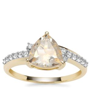 Serenite Ring with White Zircon in 9K Gold 1.78cts