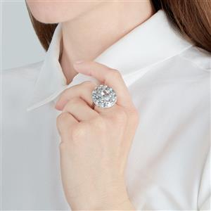 Espirito Santo Aquamarine Ring in Sterling Silver 5.14ct