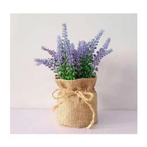 Artificial Lavender in Hessian Bag