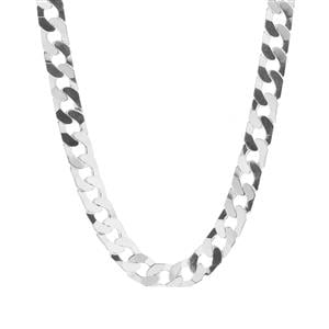 """22"""" Sterling Silver Classico Flat Squared Curb Chain 33.30g"""