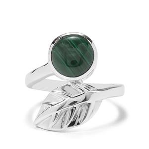 3.90ct Malachite Sterling Silver Ring