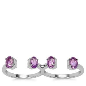 Moroccan Amethyst Ring in Sterling Silver 1.78cts
