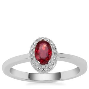 Thai Ruby Ring in Sterling Silver 0.45ct (F)
