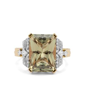 Csarite® Ring with Diamond in 18K Gold 8.65cts