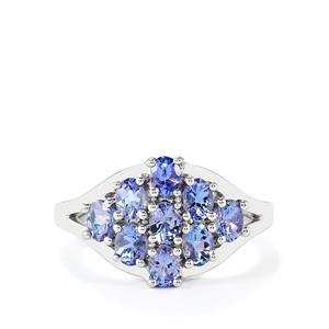 1.53ct Tanzanite Sterling Silver Ring