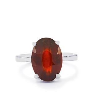 7.09ct Ciana Hessonite Garnet Sterling Silver Ring