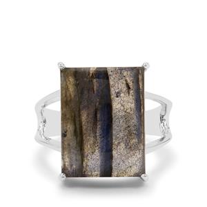 10.85ct Paul Island Labradorite Sterling Silver Ring