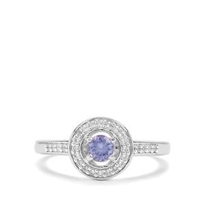 AA Tanzanite & White Topaz Sterling Silver ATGW 0.44cts