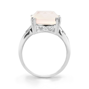 Rose Quartz Ring in Sterling Silver 6.82cts