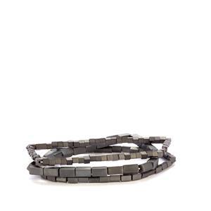 125ct Grey Haematite Set of 3 Elastic Bracelet