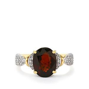 Colour Change Bastnaesite & Diamond 18K Gold Lorique Ring MTGW 5.52cts
