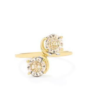 Lehrer QuasarCut Mutala Morganite & Diamond 9K Gold Ring ATGW 1.45cts