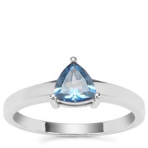 Santa Maria Topaz Ring  in Sterling Silver 0.89ct