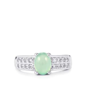 Aquaprase™ Ring with White Topaz in Sterling Silver 1.52cts