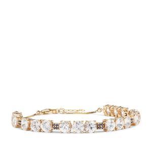 Singida Tanzanian Zircon Bracelet with Sri Lankan Sapphire in 9k Gold 12.22cts