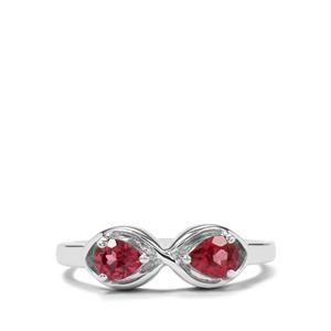 0.73ct Rajasthan Garnet Sterling Silver Ring