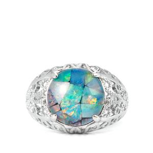 Mosaic Opal Sterling Silver Ring  (11.50 x 11.50mm)