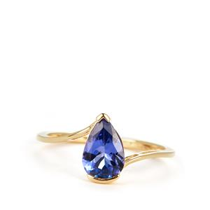 AAA Tanzanite Ring in 9K Gold 1.27cts