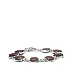 Dinosaur Bone Bracelet in Sterling Silver 43.37cts