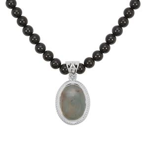 Aquaprase™ Necklace with Black Spinel in Sterling Silver 149.18cts