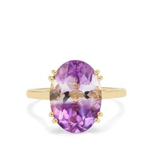 Boudi Hourglass Amethyst Ring in 9K Gold 5.10cts