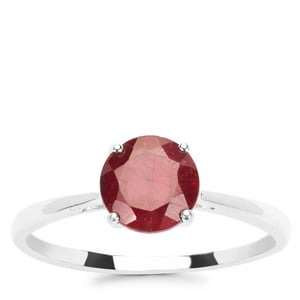 1.88ct Thai Ruby Sterling Silver Ring (F)