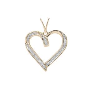 Diamond Pendant in 9K Gold 0.34ct