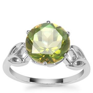 Fern Green Quartz Ring in Sterling Silver 3.64cts