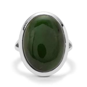 17ct Nephrite Jade Sterling Silver Aryonna Ring