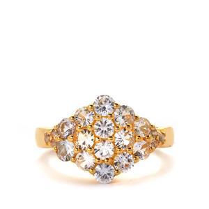 Sri Lankan Sapphire & White Topaz Ring ATGW 1.78cts