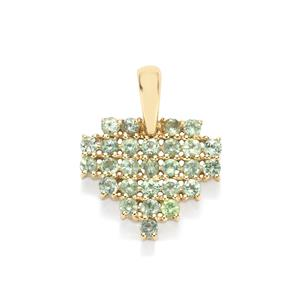 Alexandrite Pendant in 10k Gold 0.75cts