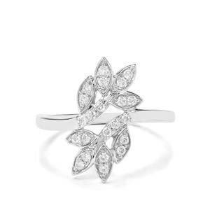 1/4ct Argyle Diamond 9K White Gold Ring
