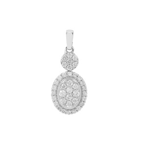 Canadian Diamond Pendant in 9K White Gold 0.51ct