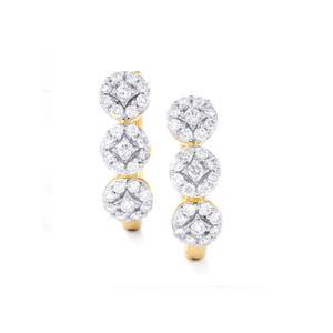 3/4ct Diamond 18K Gold Tomas Rae Earrings