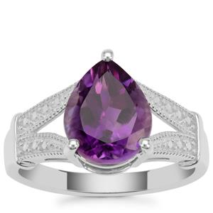 Zambian Amethyst Ring  in Sterling Silver 2.85cts
