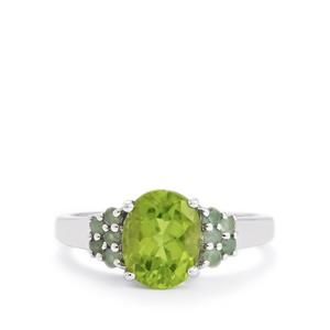 Changbai Peridot Ring with Orissa Alexandrite in Sterling Silver 2cts