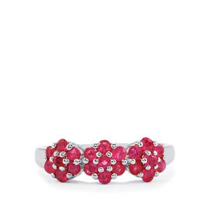 1.12ct Siam Ruby Sterling Silver Ring