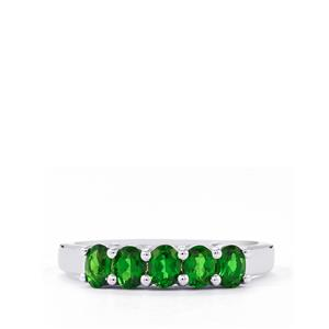 0.89ct Chrome Diopside Sterling Silver Ring