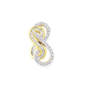 Diamond Pendant  in 10k Gold 0.52ct