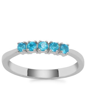 Neon Apatite Ring in Sterling Silver 0.34ct