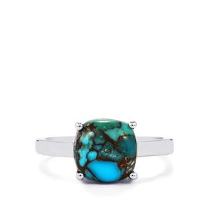 Egyptian Turquoise Ring in Sterling Silver 3.44cts