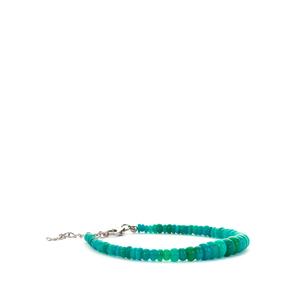 23.02ct Ethiopian Green Opal Sterling Silver Graduated Bracelet