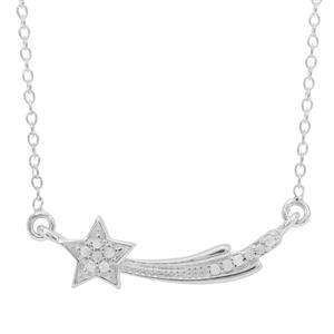 Diamond Necklace in Sterling Silver 0.07ct
