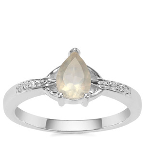 Serenite Ring with White Zircon in Sterling Silver 0.71cts