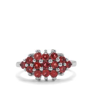 1.61ct Rhodolite Garnet Sterling Silver Ring