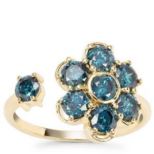 Blue Diamond Ring  in 9K Gold 1.69ct
