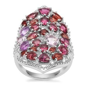 6.40ct Sunset Sterling Silver Shades Ring