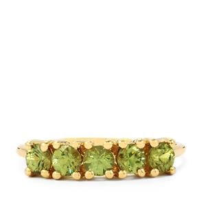 1.04ct Ambanja Demantoid Garnet 9K Gold Ring