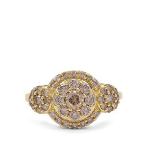 1ct Champagne Argyle Diamond 9K Gold Ring